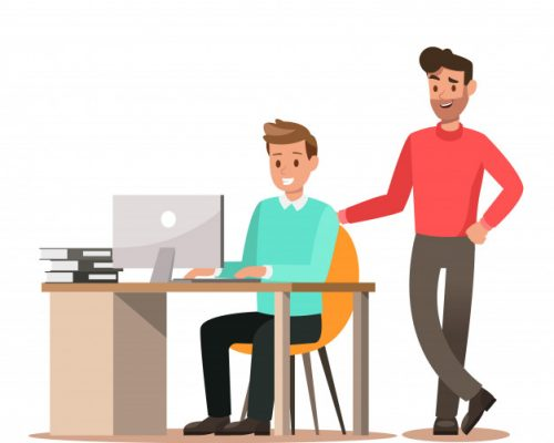 conjunto-personajes-negocios-trabajando-oficina_48866-350